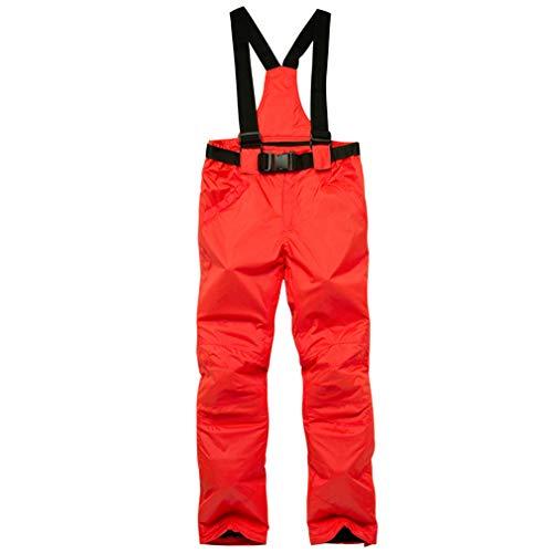 Sunbaby Skihose - Wasserabweisende Hose, verstellbare Taille, abnehmbare Zahnspange Ski-Outfit - ideale Skibekleidung für Damen/Herren (Rot, XXXL)