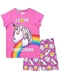 Emoji Mädchen Einhorn Schlafanzug Rosa 158