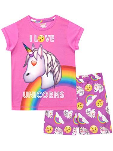 Emoji Pijamas Manga Corta niñas Unicornio Rosa 12-13