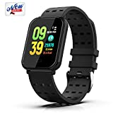 HappyT Smart Watch Fitness Tracker Activity Tracker Bracelet Waterproof Pedometer with Heart Rate Monitor, Sleep Monitor, Step Counter, Sports Wristbands Compatible with iPhone and Android