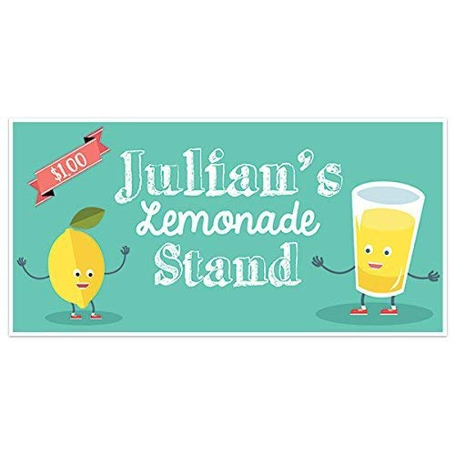 Cute Lemons Theme Limited price sale Lemonade Stand low-pricing Banner Sign Personalized