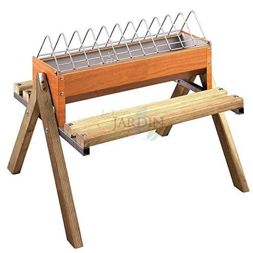 Suinga Corral Poules en bois avec pieds 120 x 20 x 60 cm