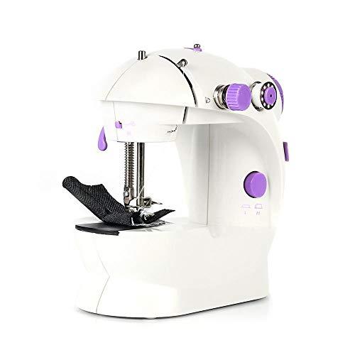 No logo Máquinas de Coser Ajuste de la Velocidad eléctrica Mini máquina de Coser for el hogar de la Mano de la máquina for Coser con la luz Máquina de Coser Handheld ZHQHYQHHX