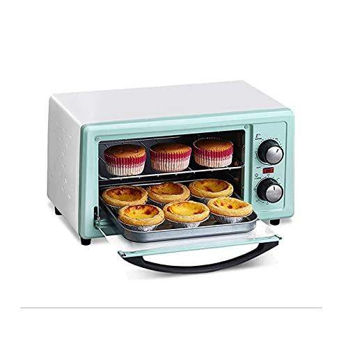 ELXSZJ XTZJ Encimera de Horno de tostadora, 4 rebanadas, tamaño Compacto, fácil de controlar con Ajuste Timer-Bake-Toast-Toast, 800W