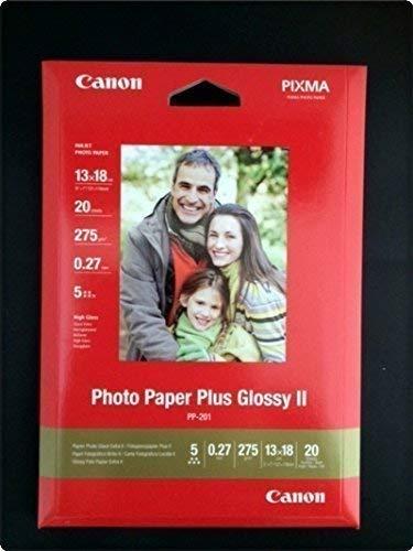 Canon papier photo 20 feuilles de papier photo ultra brillant, pP - 201 iI 275 g, 13 x 18 pack