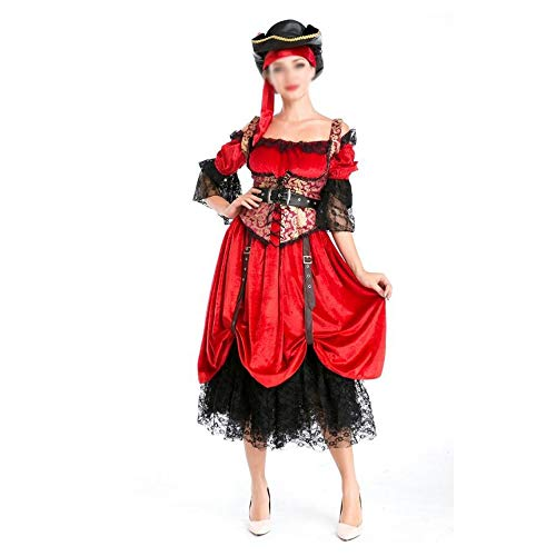 Lishaodonglishaodon Lady Halloween Fluch der Karibik Kostüme Cosplay (Color : A, Size : One Size)