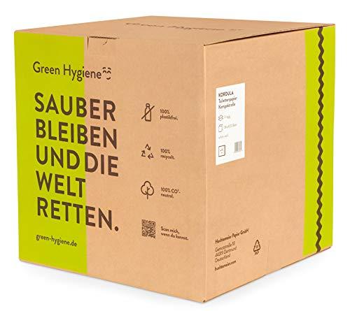 Toilettenpapier KORDULA, plastikfrei, 100% Recycling, 3-lagig, hochweiß, 36 Rollen a 400 Blatt #90639