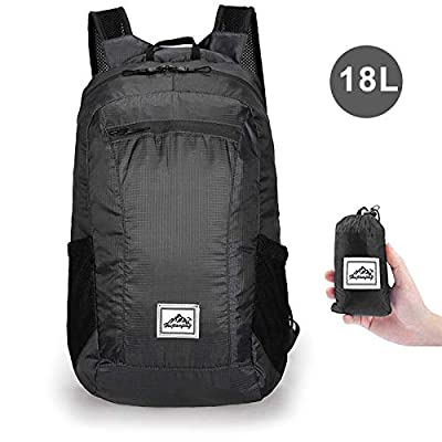 ONTRD Lightweight Packable Hiking Backpack, Small Water Resistant Foldable Daypack for Travel Camping Outdoor