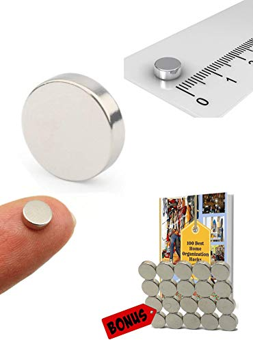 Small Tiny Magnets   5x3mm Round Brushed Nickel Style for Fridge,Office,Dry Erase Board,Whiteboard,Map,Magnetic Pins   Rare Earth Magnets(Pack of 30)