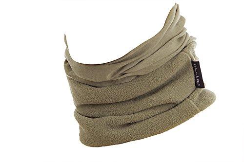 Hilltop Polar Multifunktionstuch mit Fleece, Motorrad Halstuch/Schlauchschal/Ski Gesichtsmaske/TOP Farben, Farbe Polar Tuch:hell oliv uni