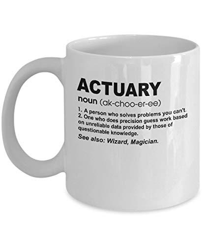 Aktuar Definition Becher - Geschenk für Aktuar - 11oz Neuheit Keramik Kaffee & Tee Tasse - Architekt Geschenk für Weihnachten, Weihnachten, Jubiläum, Geburtstag, Valentinstag für ihn oder sie