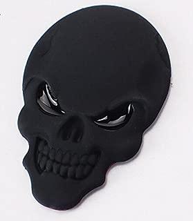 Wanheyao Car Motorcycle Awesome Skeleton Logo 3D Metal Emblem Badge Decal Skull Demon Bone Sticker Dark Black