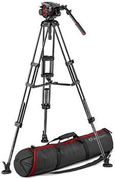 Manfrotto 504HD Head & Carbon Fiber Twin Leg Video Tripod Kit