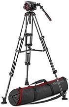 Manfrotto 504HD Head & Carbon Fiber Twin Leg Video Tripod Kit, Mid-Level Spreader, 100/75mm Bowl