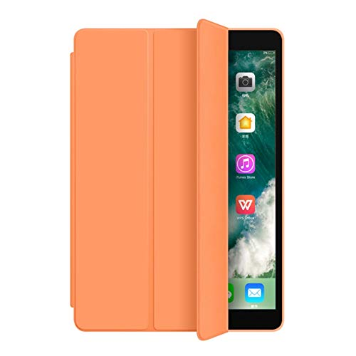 Smart Case for iPad 7th Generation 2019 10.2Inch Protective Cover Premium Slim Trifold Stand Folio Cover Case for iPad Book Cover Design, Lightweight Cover Auto Sleep/Wake for iPad ( Color : Orange )