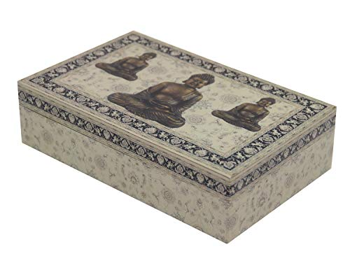 DharmaObjects Decorative Jewelry Trinket Keepsake Storage Box (Buddha Zen, 8' X 5')