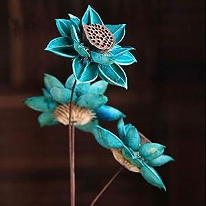 TRRT Fake Plants Artificial Natural DIY Hibiscus Lotus Dried Flower, Wedding Decoration for Home Party Office Decorative Artificial Dried Flowers Fake Flower
