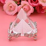Zwindy Pyramid Carving - Figuras de pirámide de cuarzo y cristal creativo para los amigos