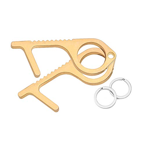 Brass Clean Key I No Touch Door Opener I Copper Touchless Door Opener Tool I Germ Key Essentials 5 Pack ContactLESS