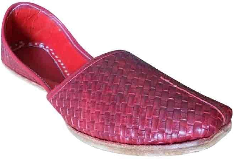 Jutti Indiska Handgjord för Casual Casual Casual Man skor läder Flip -Flops Mojari Flat  många överraskningar