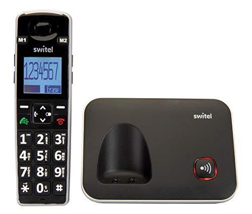 Switel D7000 Vita+ DECT, mobiles DECT Senioren-Handy mit großen beleuchteten Tasten & Bildschirm, Hörgerätekompatibel & extra lauter Klingelton