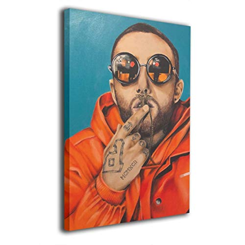 Verde Jungle Mac Miller Poster Wall Art Decor Framed Print 8x12 In - Picture Paintings For Living Room Bedroom Decoration Ready To Hang