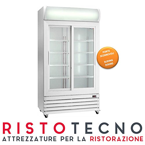 Frigo vetrina Bibite. Lt. 825 – Dim.cm. 112x69x2079H. • Porte Scorrevoli