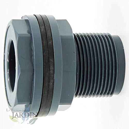 Pasamuros deposito de agua 1' macho - 25mm ideal para el llenado y vaciado de depósitos, cisternas, tanques de agua.
