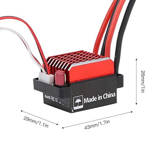 Dilwe ESC RC Brushed Motor, 360A Brushed Electronic Geschwindigkeitsregler + 550 Brushed Motor 1:10 RC Car Upgrade Ersatzteil(29T)