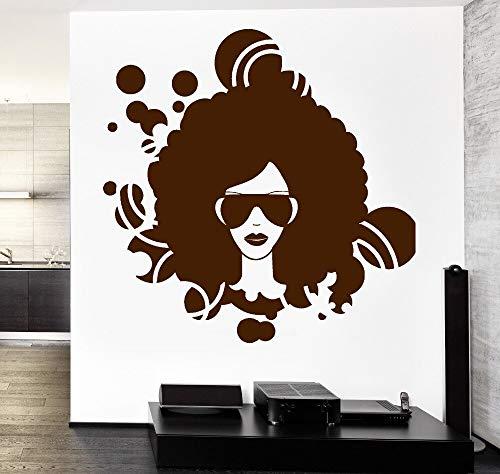 hetingyue Vinyl muursticker, decoratie thuis, woonkamer, bank, muziek, achtergrond, zwart, meisjes, Afro-USA, disco