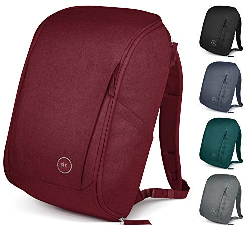 Simple Modern Wanderer Backpack with Laptop Compartment Sleeve - 25L Travel Bag for Men & Women College Work School: Cabernet