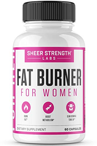 Thermogenic Fat Burner for Women - Triple-Strength Metabolism Booster, Appetite Suppressant & Carb Blocker - Natural Ingredients Support Healthy Weight Loss - 60 Diet Pills - Sheer Strength
