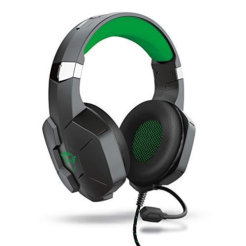 Trust Gaming Cascos Xbox Series X (S) GXT 323X Carus Auriculares Gamer con Micrófono Flexible, para Xbox One (X), Xbox Series X (S) - Negro/Verde