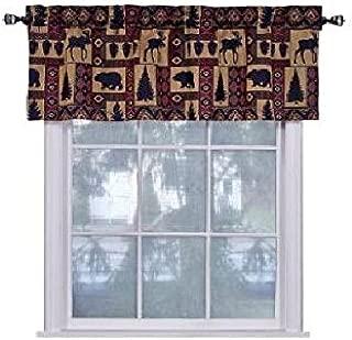 Cabin Pine Lodge Wildlife Window Valance