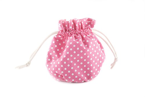 Spotty Pink Drawstring Cosmetic Organiser Bag, Perfect for Travelling