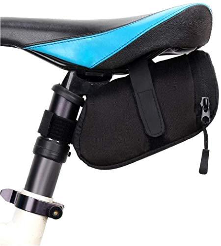LILICEN 3 Color Nylon Bolsa Bicicleta Bicicleta Impermeable Almacén Sillín Bolsa Asiento Ciclismo Tail Trasero Bolsa Bolsa Accesorios de Sillín, Negro