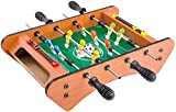 YLJYJ Mesa de Juegos múltiples, Mesa de minijuego combinada 2 en 1 con fútbol, Hockey de Diapositivas, Mesa de futbolín de Madera con balones de fútbol, (Juegos de Escritorio)
