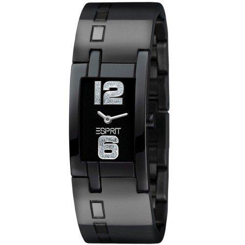 Esprit Damen-Armbanduhr 12/6 Skyline Black Houston Analog Edelstahl beschichtet ES101532003