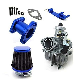 TC-Motor Racing Performance Mikuni VM22-3847 Carburetor Carb Mainfold 38mm Air Filter For Predator 212cc GX200 196cc Go Kart Mini Bike  Blue