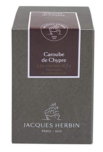 J.Herbin 15045JT Jubiläums- Tintenflakon 1670 (50 ml, für Federhalter, farbintensiv) braun