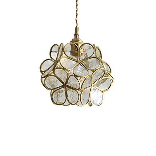 LiQi Cristal de la lámpara lámpara de Pared decoración E27 Creativo Flor de Pared latón lámpara de cabecera del Dormitorio de Primera Calidad sólida lámpara de Ø22 * 17cm,Transparente