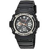 Military Watches Bundle: Casio Men's G-Shock AWGM100-1ACR Tough Solar Atomic Sport Black & Cap