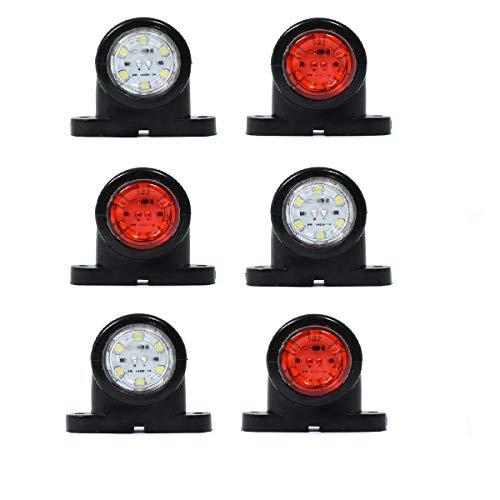 6x G LED LKW Begrenzungsleuchten 12V/24V Positionsleuchten Anhänger Rot Weiß