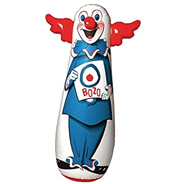 Bozo the Clown Bop Bag Inflatable Punching Toy