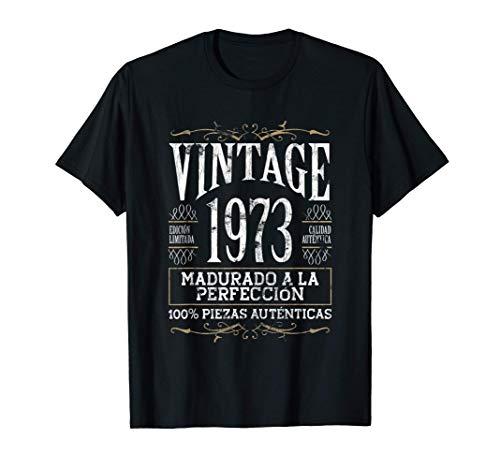 Vintage 1973 - 48 años Cumpleaños Regalo de Hombre Mujer Camiseta