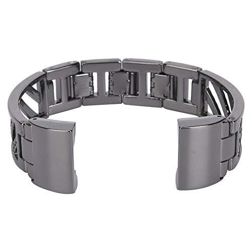 Productos Multifuncionales Metal Hermosa Joyería De La Pulsera Reloj De Reloj Smart Reloj Correa Pulsera Reemplazo Ajuste para Fitbit Cargar 2Black