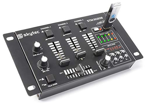 Skytec 172976–stm-30204Kanal-Mischer mit USB/MP3schwarz