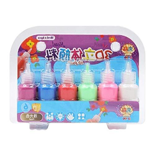 6 Farben Kinder 3D Acrylfarbe Pigment Set Für Kinder Graffiti DIY Malerei Für Smart Kinder Student Outdoor Craft Waschbar Poster Acrylfarben Für Malerei Farbe Für Leinwand Malerei Acryl