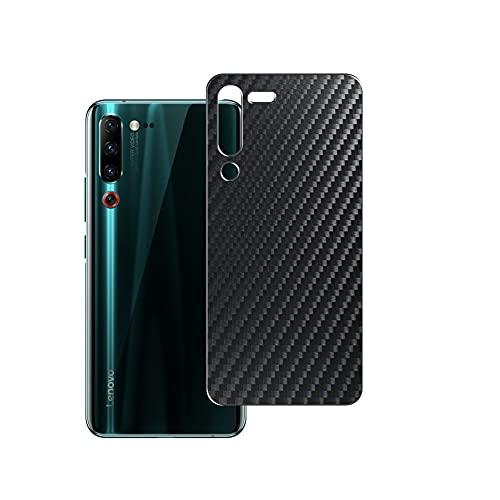 Vaxson 2-Pack Pellicola Protettiva Posteriore, compatibile con Lenovo Z6 Pro, Back Film Protector Skin Cover [ Non Vetro Temperato ] - Fibra di Carbonio Nera