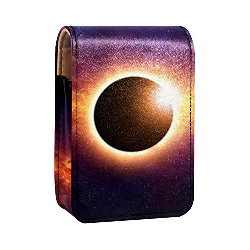 Boîte de rangement de rouge à lèvres Boîte d'emballage,Eclipse totale de Soleil